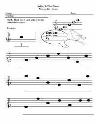 Worksheet Template : Quiz & Worksheet Notes On The Treble Clef ...