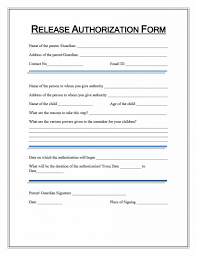 Printable Medical Release Form For Children Delectable 48 Medical Records Release Form Release Of Information