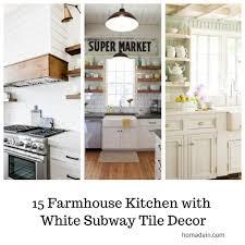 Farm House Kitchens 15 farmhouse kitchens with white subway tile decor homadein 5761 by guidejewelry.us