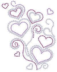 Heart Scrolls Heart With Scrolls Rhinestone Transfer