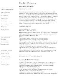 Sample Waitress Resumes Waitress Resume Examples Here Are Waiter Sample Restaurant Bartender