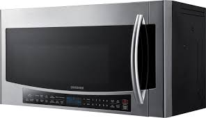 Samsung 1.7 Cu. Ft. Convection Over-the-Range Microwave Silver ...