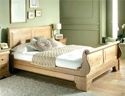 Solid Wood Sleigh Bed Queen Slay Bed Frame Awesome Metal And Wooden ...