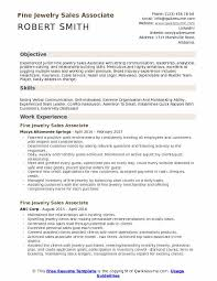 Sales Associate Resume Fine Jewelry Sales Associate Resume Samples Qwikresume