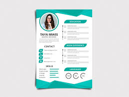 Modern Formatted Resume Templates Taya Resume Free Modern Resume Template With In