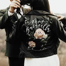painted leather jacket wedding dress awesome