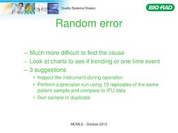 Bio Rad Quality Control Chart Ppt Systematic Approach To Qc Problems Powerpoint