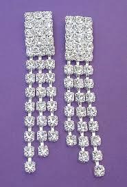 swarovski dangle clip earrings