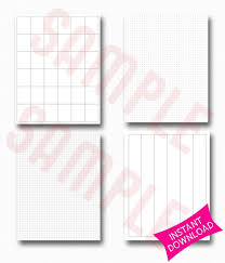 Printable Bullet Journal Paper Graph Paper Grid Paper Columns Paper Digital Paper Journal Organizer