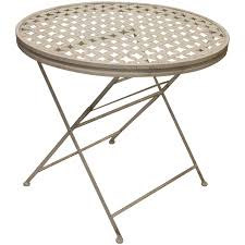 woodside round metal table