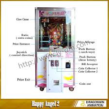Vending Machine Instructions Delectable Happy Angel II Toys Crane Claw Vending Machine