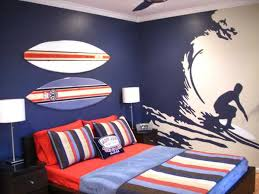 boys bedroom decorating ideas sports. Teenage Bedroom Decorating For Boys, Sport Theme And Traditional Blue-red Color Scheme Boys Ideas Sports R