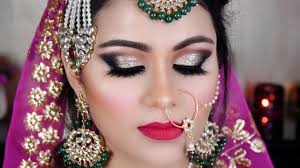 indian bridal makeup muslim bride gold black eyes tutorial in hindi