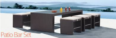 Entertain At Home With A Patio Bar Set Home Furniture and Patio