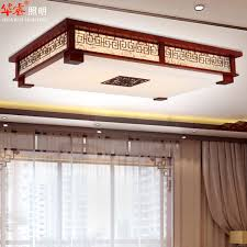 chinese style lighting. Modern LED Red Wood Chinese Style Cutout Carved Sheepskin Indoor Lighting Solid Wooden Lamp Villa Flush I