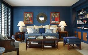blue living room designs. Example Of A Mid-sized Transitional Open Concept Beige Floor Family Room Design In Miami Blue Living Designs