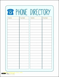 Phone Book Template Excel New Printable Address Book Template Excel