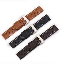mens genuine leather watch straps