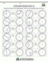 Math : Telling Time Worksheets Oclock And Half Past First Grade ...