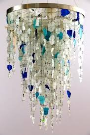 sea glass chandelier a green