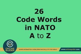 Search words by phonetic transcription. 26 Code Words In The Nato Phonetic Alphabet Online Guider
