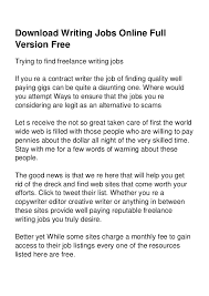 writing jobs online full version jpg cb  2 writing jobs online full version