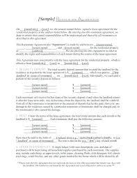 Rental Agreements Custom Free Residential Lease Agreement Template Roommate Rental Sub Room