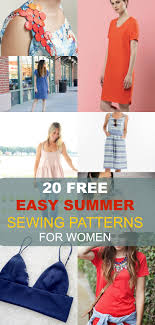 Dress Patterns For Women Inspiration FREE SEWING PATTERNS 48 Easy Summer Patterns For Women On The