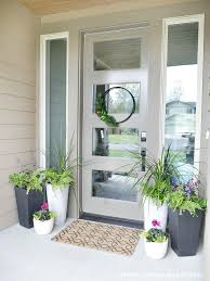 Potted plants are one of the easiest ways to dress up any space! Be sure to  check out these gorgeous porch planter ideas and inspiration front and back  ...