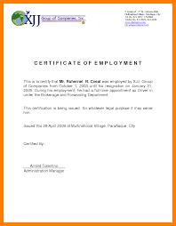 8 Cert Of Employment Sample Cna Resumed