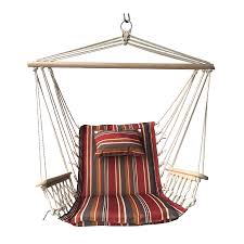 Hanging swing chair Outdoor Patio Spice Striped Hanging Hammock Swing Chair With Pillow Headrest And Arms Walmartcom Walmart Spice Striped Hanging Hammock Swing Chair With Pillow Headrest And