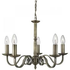 searchlight richmond traditional 5 light ceiling pendant light in antique brass finish 1505 5ab lighting from the home lighting centre uk