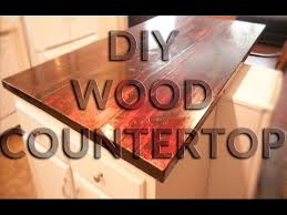 diy wood countertop butcher block style anyone can do this one you