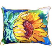 sunflower outdoor pillows windy sunflower indoor outdoor lumbar pillow sunflower outdoor throw pillows