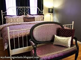 Silver And Purple Bedroom Champagne Taste Master Bedroom Reveal