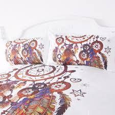 Dream Catcher Crib Set Dreamcatcher Feathers Bedding 100Pcs Set wolvestuff 50