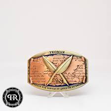 Custom Yn Belt Buckle Navy Custom Yeoman Belt Buckle