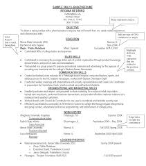 Example Skills Section Resume
