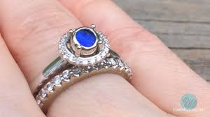 sea glass engagement ring beautiful the sulu made by meg jewelry