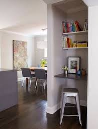 hall closet conversion morningside renovation modern home office atlanta by mark atlanta closet home office