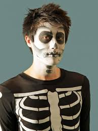 scary skeleton makeup