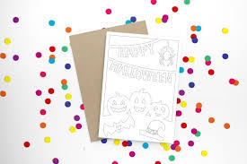It's time to wish your friends , family ,near and dear ones a very very happy halloween. Free Printable Halloween Cards To Colour Mum In The Madhouse