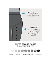 Hue Tights Size Chart Womens Super Opaque Tights