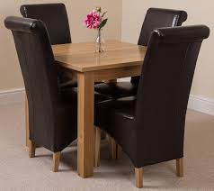 oslo dining set 4 brown chairs oak furniture s oak furniture columbia md