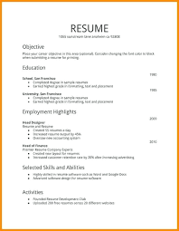 Job Resume Simple Resume Templates For First Job 28st Resume Templates Resume Examples