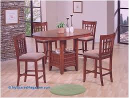 5 pc empire oak finish wood counter height oval dining table set