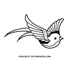 bird swallow stencil art