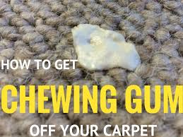 how to get chewing gum off your carpet