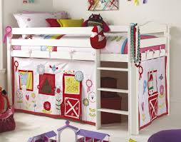 ... Attractive Interior Design For Kids Rooms Decor : Comely White  Comforter In Bunk Bed With Ladder ...