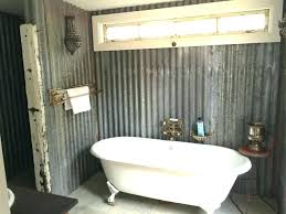 corrugated metal bathroom walls using for shower home decorations ideas kids room decor corrugated metal